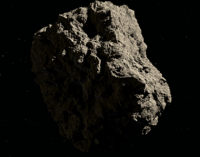 Low-poly asteroid 3D