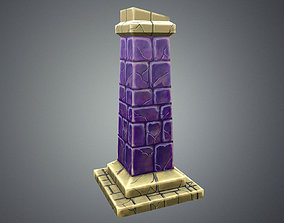 Low Poly Stylize Pillar 3D model