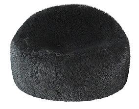 Large fluffy and soft fur bag 3D model