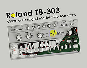3D model Roland TB - 303 Rigged