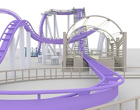 3D model skytest roller coaster