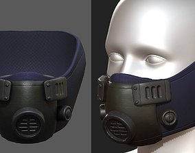 3D asset Gas mask respirator scifi futuristic helmet