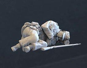3D printable model dinner German soldier