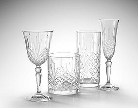 wine 3D model RCR Melodia Glass Set