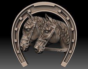 house 3D printable model Horse Head horseshoe