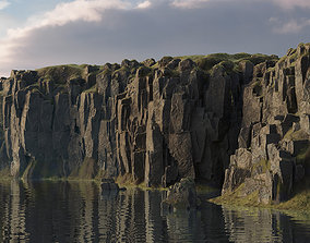 Modular cliffs and rocks 3D model