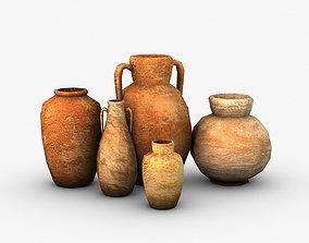 3D asset Low Poly Pottery