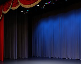 Theatre concert stage with ferm projectors and 3D model 1
