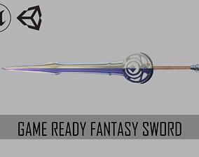 Game Ready Fantasy Sword 3D model