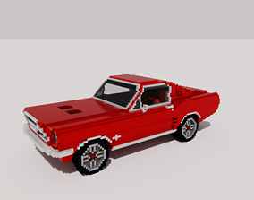 3D model Voxel Mustang