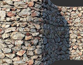 3D model Rock Masonry vray material 01