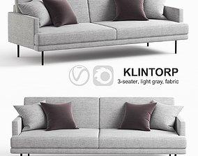 Ikea KLINTORP sofa gray fabric 3D