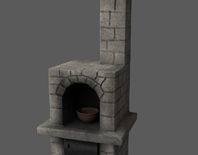 3D model game-ready Furnace