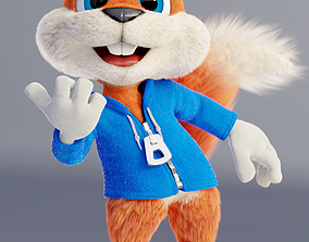 3D rigged Conker The Squirrel