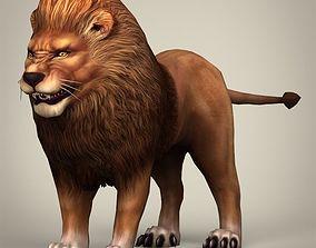 3D asset Game Ready Realistic Lion