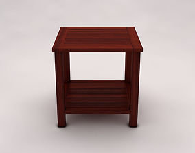 3D SIDE TABLE---Double square and wooden lath