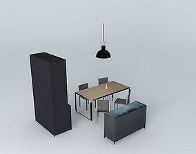 Dining Room Maisons du Monde 3d 3D model