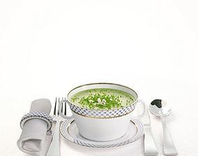 3D model Porcelain Tableware Set