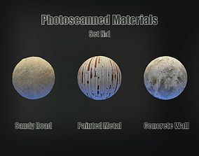 Set of 3 PBR Materials - Photoscanned Material 3D model 3