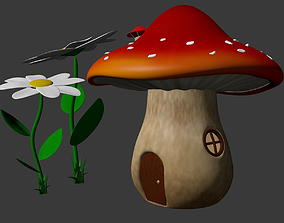 3D model Fairytale mushroom house