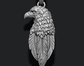 3D printable model Eagle pendant basrelief
