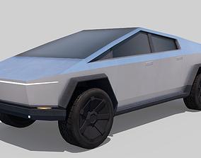 hybrid 3D asset realtime Tesla Cybertruck