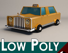 3D model Low-Poly Cartoon Taxi Cab