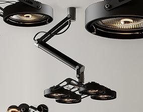 Ceiling Light Modular Nomad 4x AR111 GI Black and 3D