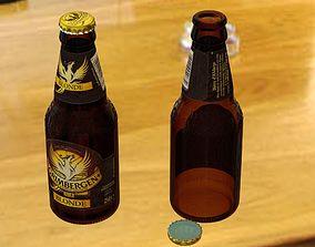 3D Beer bottle Grimbergen 25cl