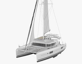 Lagoon 42 catamaran 3D