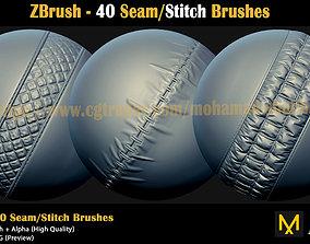 ZBrush- 40Seam-Stitch-Brushes-VOL-02 3D model