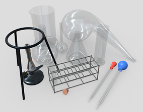 Laboratory Flask Pack 3D asset