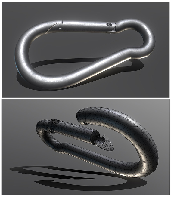 Clean Carabiner - Karabinerhaken (Low-Poly)
