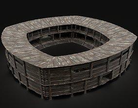 MEDIEVAL FIGHTING ARENA THEATER SCENE FANTASY 3D model