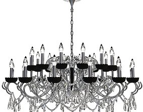 3D model Detailed Beaded Chandelier