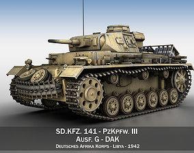 3D PzKpfw III - Ausf G - DAK - 313