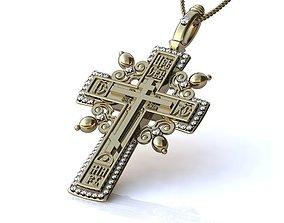 Cross Pendant model BR003 silver-cross