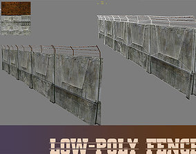 Lowpoly fence 3D