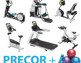 Precor collection 2021 and Fitness equipment set 3D