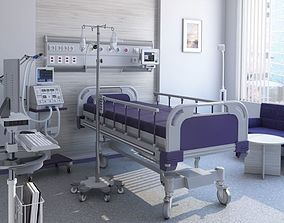 interior Medical Patient Room 3D model