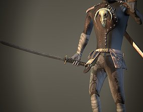 Ninja male Character 3D asset