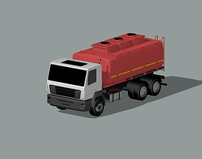 tank truck MAZ 3D model