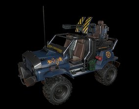 Jeep LowPoly 3D asset VR / AR ready