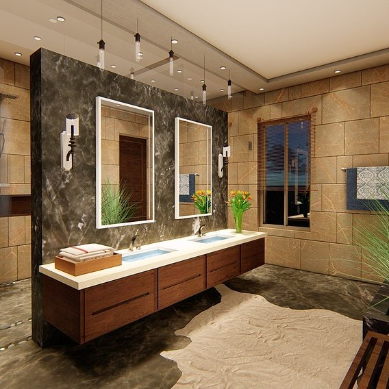 BATH DESIGN AND RENDER IN LUMION 8.0 PRO