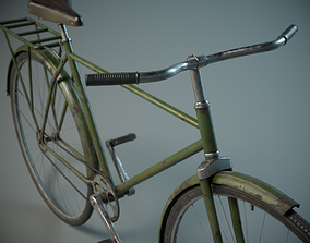 Old Bicycle PBR 3D asset
