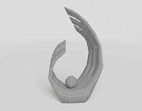 3D model Interior decoration wave art sculpture