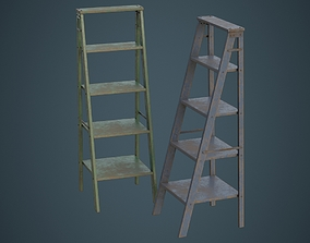 3D asset Step Ladder 1C