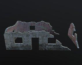 3D model Damaged-Destroyed Building 2