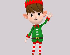 3D model Cartoon Elf Boy