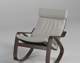 Poeng rocking chair 3D asset